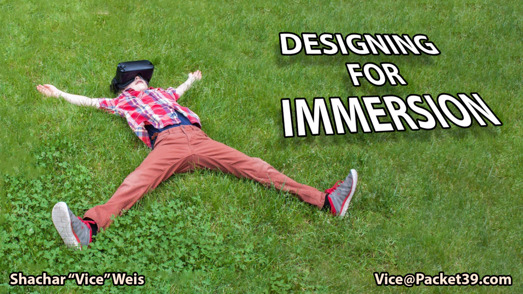 Designing For Immersion